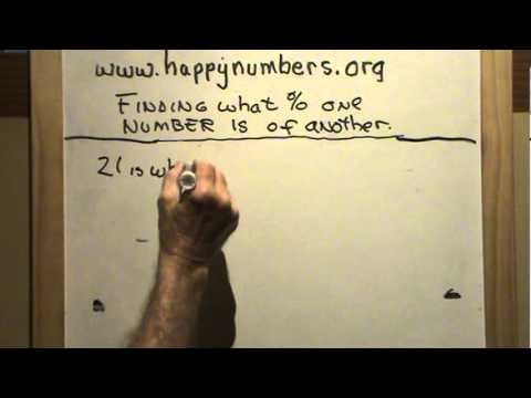 Finding What Percent one Number is of Another 1