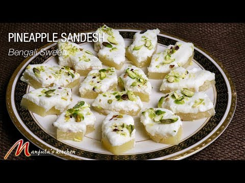 Pineapple Sandesh (Bengali sweet paneer dessert) Easy to make recipe