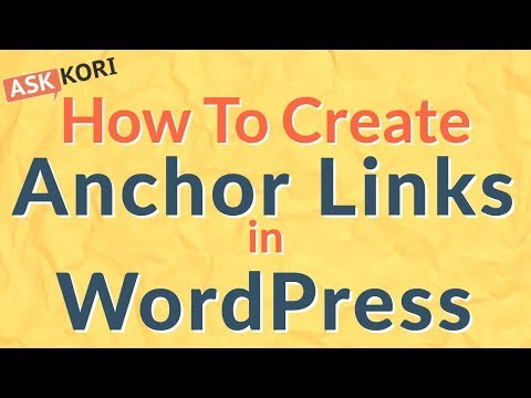 How to Create Anchor tags or Anchor Links in WordPress