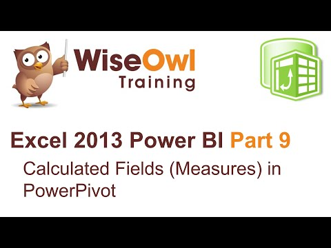 Excel 2013 Power BI Tools Part 9 - Calculated fields (measures) in PowerPivot