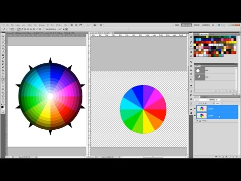 How To Make a Color Wheel (Revised Audio) Photoshop Tutorial Part 8-1 Mastering Vectors