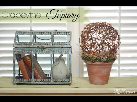Grapevine Ball Lighted Topiary