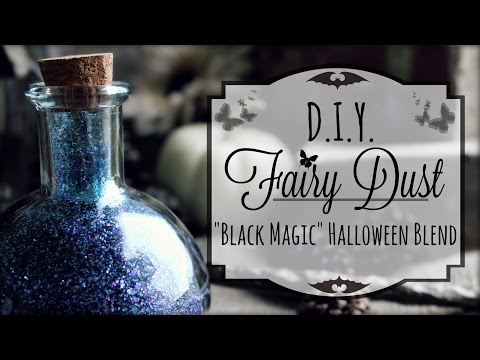 DIY Fairy Dust: Black Magic Glitter Potions | How to make Fairydust #Halloween Crafts
