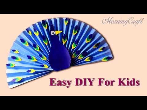 Easy Paper Peacock For Kids - DIY