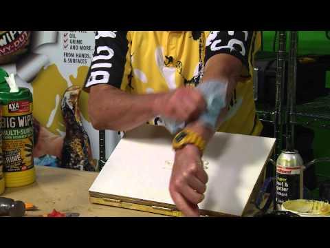 PU Foam Removal with 4x4 Heavy-Duty Big Wipes