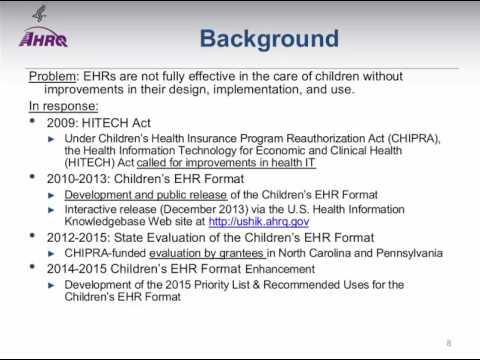 Use of Health IT in Pediatric Care: National Web Conference