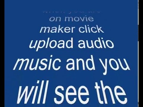 Converting Itunes songs to Movie Maker