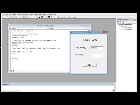 Student Login Form Using Visual Basic 6.0 (Hindi Video)