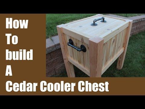 Build a Cedar Cooler Chest - Iron Pipe Hardware!