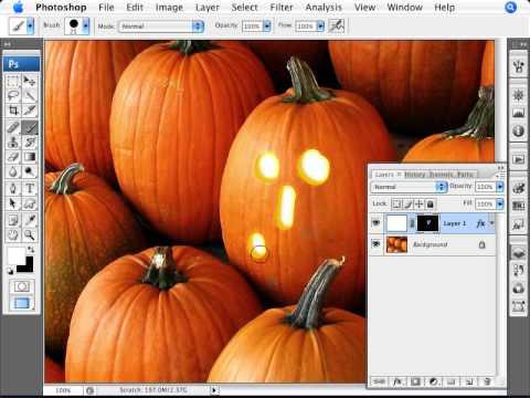 Learn Photoshop - How to Create a Jack O'Lantern