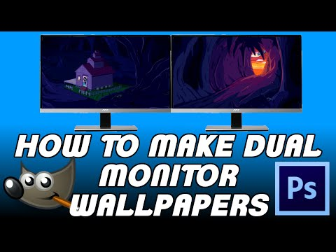 How To Make Dual Monitor Wallpapers Using Gimp or Photoshop