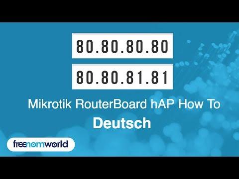 Freenom World Mikrotik RouterBoard hAP HowTo (German)