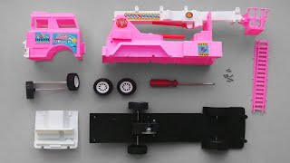 Assemble Transport Pink Mixer Truck | Vehicles attached | Toy Vehicles Attached