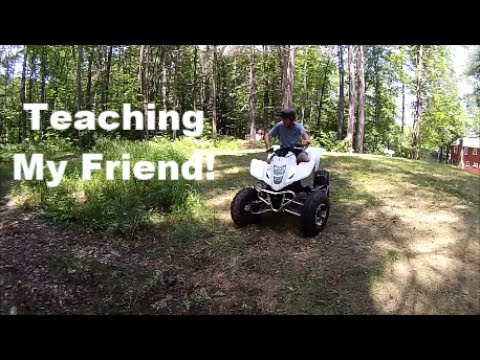Friend Rides ATV for the First Time!