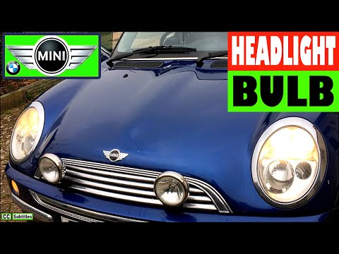 How to change headlight bulb on Mini R50 R53 2000-2006 First Generation