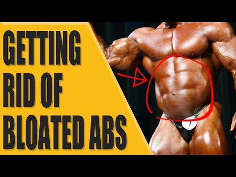 How to get rid of bloated abs?