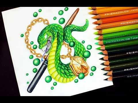 Speed Drawing SLYTHERIN Harry Potter Houses