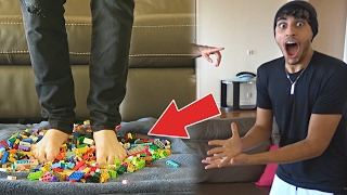 JUMPING ONTO LEGOS..... (MOST PAINFUL CHALLENGE)