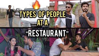 TYPES OF PEOPLE AT A RESTAURANT - | Elvish Yadav |