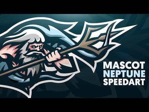 Adobe Illustrator   Mascot   NEPTUNE   Shard x Vortek