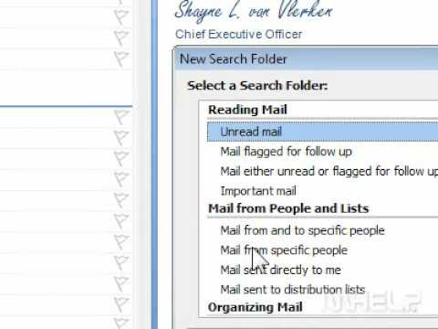 How to use a search folder to find email messages with attachments in Outlook
