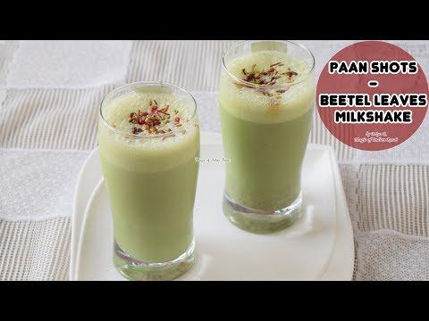 Paan Shots - Refreshing Paan (Betel Leaves) Milk Drink Recipe - Priya R - Magic of Indian Rasoi