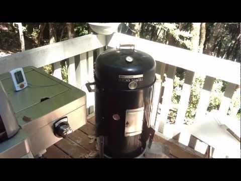Brinkmann Smoker, Cooking Pulled Pork