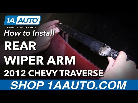 How to Install Replace Rear Windshield Wiper Arm 2012 Chevy Traverse