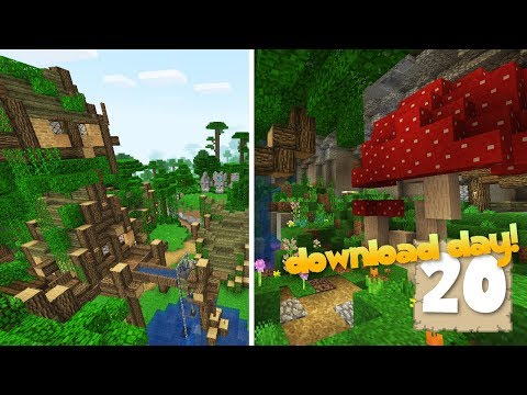 DOWNLOAD DAY w/ WORLD TOUR & RESOURCE PACK!! - Survival Let's Play Ep. 20 - Minecraft 1.2.3
