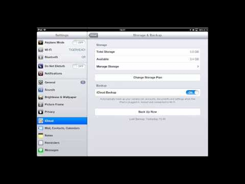 How to Backup iPad to iCloud and iPhone