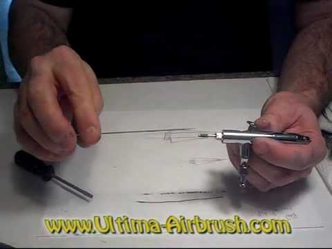 Reassembling airbrush after adjusting, cleaning or repairs from Ultima-Air Products