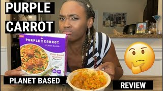 PURPLE CARROT PLANT BASED MEAL REVIEW | MEALS UNDER $5
