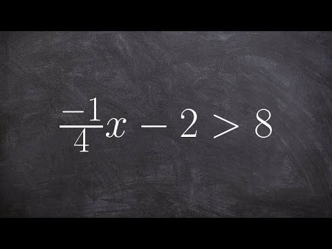 Learn how to solve a two step inequality with a fraction