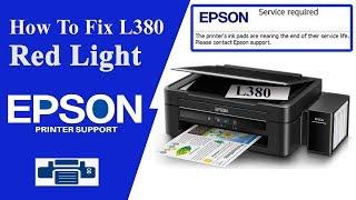 how to reset Epson l380 l360 l3110 in hindi redlight error