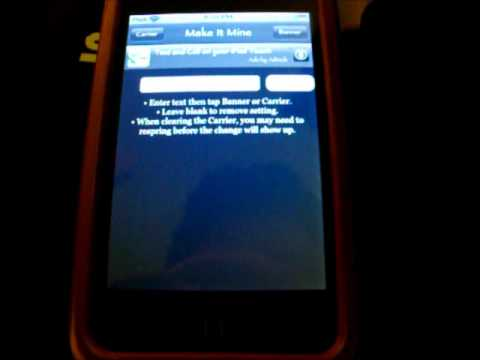 How to change carrier and banner in Iphone/Itouch