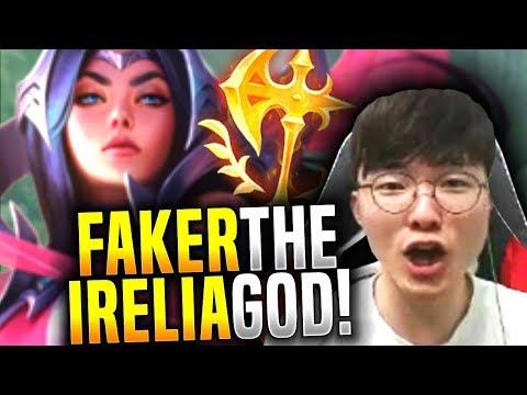 FAKER is a GOD with IRELIA Mid! - SKT T1 Faker Picks Irelia Mid! | SKT T1 Replays