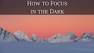 How to Autofocus in the Dark? Photography tip of the week.