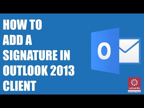 How to add a Signature on Outlook 2013