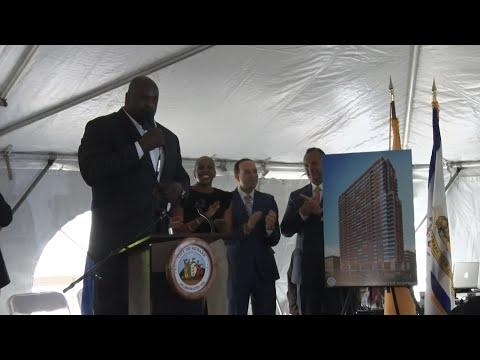 'Shaq Tower' in downtown Newark marks a milestone