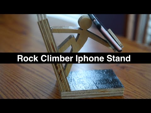 Rock Climber Iphone Stand -- DIY How to
