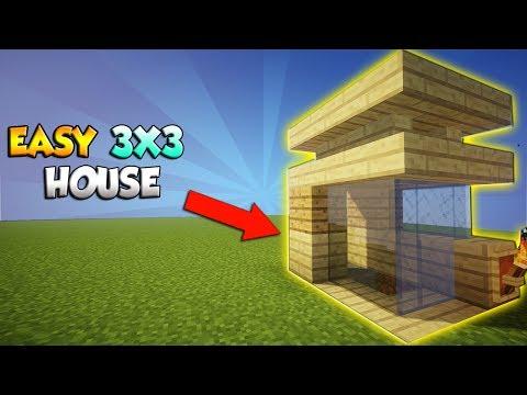 Minecraft: 3X3 Starter Survival House - COOL Survival House Tutorial