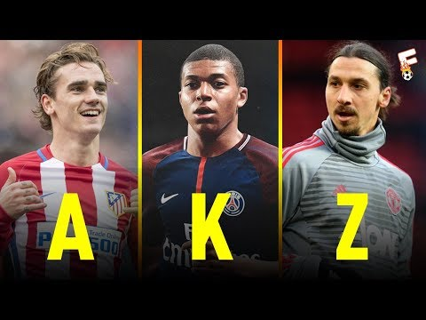 Best Active Footballers First Name Beginning With A - Z ⚽ Footchampion