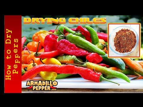 How to Dry Hot Peppers | Drying Chile Peppers