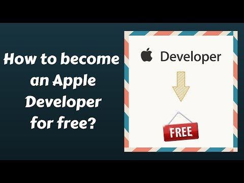 How to become an Apple Developer for free ?