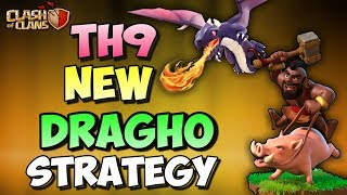 Dragho | Dragon   Hogs | New Th9 3 Stars War Attack Strategy | Clash Of Clans
