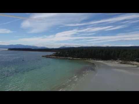 Phantom 3 Fly Vancouver island: Fly over Hornby island beaches part 2