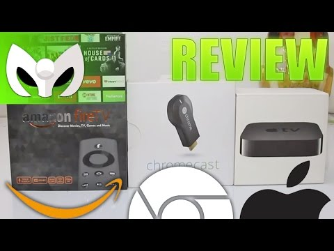 Amazon Fire TV vs Apple Tv vs Chrome Cast (REVIEW COMPLETO)