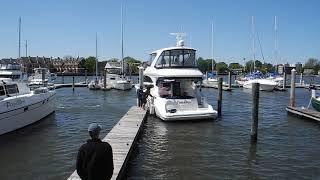 Windy docking, tough manuvers