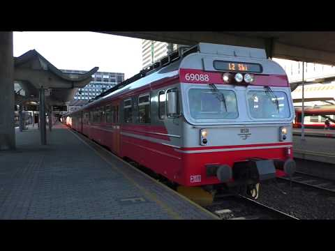 (HD) Norway - Trains at Oslo S station - Sunday 8/10/17