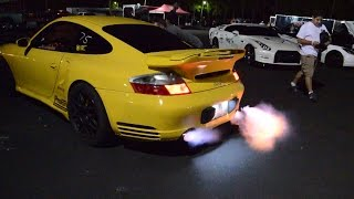 1000hp Porsche 996TT flames 1/4 mile and interior HD